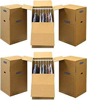 Bankers Box SmoothMove Wardrobe Moving Boxes, Tall, 24 x 24 x 40 Inches, (7711001) (2 X Pack of 3)