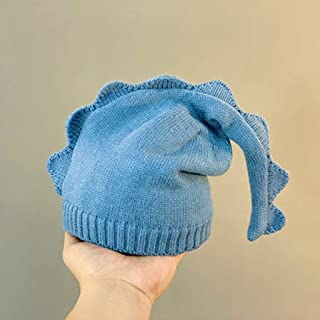 JJSPP Children's hat long tail cartoon baby hats autumn winter warm hat cute dinosaur knit hat Boys girls hats photograph hat