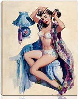 Berkin Arts Joyce Ballantyne Stretched Giclee Print On Canvas-Famous Paintings Fine Art Poster Reproduction Wall Decor-Ready to Hang(Pin Up Girls 1)#NK