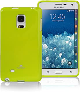 Goospery Pearl Jelly for Samsung Galaxy Note Edge Case (2014) Slim Thin Rubber Case (Lime) NT4E-JEL-LIM