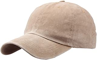 Plain Baseball Cap Vintage Washed Cotton Dad Hat Unisex