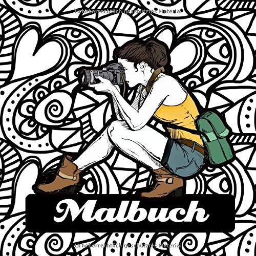 Malbuch: Malbuch für Mädchen ab 12 Jahre | Malbuch für Jungendliche | Teenager | kreative Beschäftigung | inkl. Mandalas |  ca. 21x21 cm | 60 Seiten