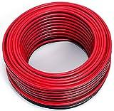Cavo per altoparlante, 2 x 1,50 mm2, 25 m, colore: rosso/nero, CCA