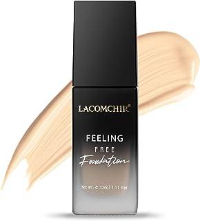 Lacomchir Feeling Free Foundation Liquid 33 ml Langdurige 24-uurs Hoge Dekking met Matte Finish Vloeibare Foundation Make-...