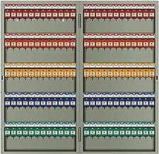 Furniture خزانة مفاتيح صندوق تخزين حديقة الفناء الخارجي معدني مثبت على الحائط قوي ودائم 72/96/120 ثقوب (Color : Gray, Size...