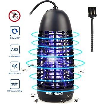 DEKINMAX Lampada Anti-Zanzara, Zanzariera Elettrica 6W UV Contro Insetti Zanzare, Mosca, Falene per Uso Interno