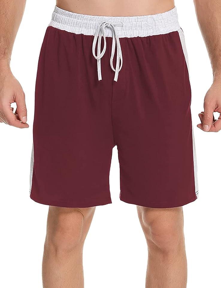 Herren Schlafanzughose Kurz Pyjamahose Schlafhose Baumwolle Shorty Sommer Nachtwäsche Hose Shorts für Männer