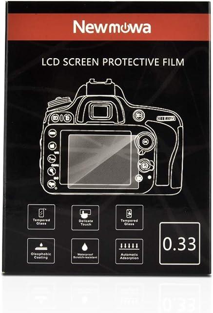 Newmowa Protectores de Pantalla para Nikon D3100 D3200 D3300 D3400 D3500 AW130S Canon SX410 SX510 SX530 SX170 1 Packs Películas de Vidrio Temperado Anti-Rayas para DSLR Cámara Digital