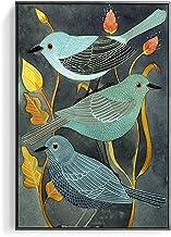 HEZHANG Nowoczesny salon zwierzę kwiat i ptak dekoracyjny obraz jadalnia sypialnia wiszący obraz ganek chodnik mural, czar...