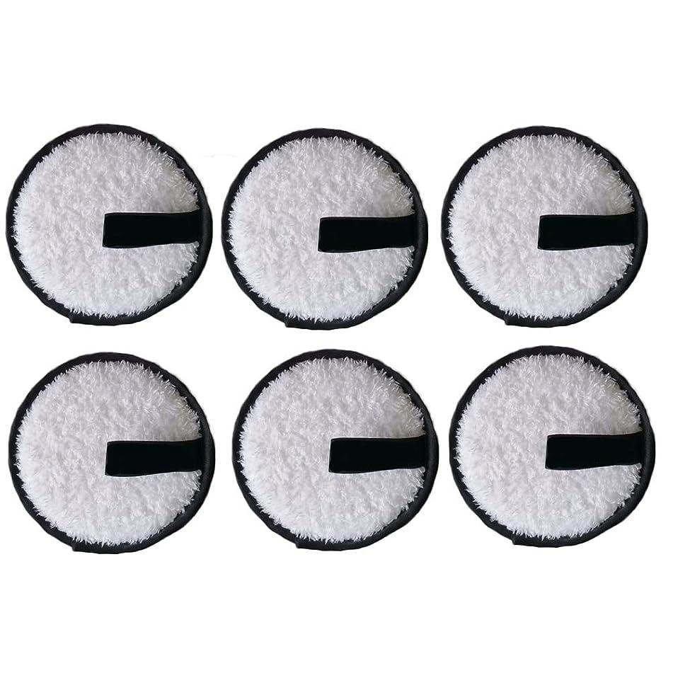 艶アートコーヒーLURROSE 6本洗顔パウダーパフ洗顔パウダーパフファッションメイク落とし圧縮パッド(黒)