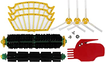 Replacement Accessories Kit for Roomba 500 Series 530 535 540 560 570 580 - Includes 3 Pack Filter Side Brush and Screw, 1 Pack Bristle Brush and Flexible Beater Brush, 1 Pack Cleaning Tool