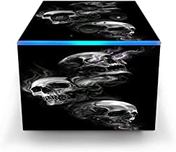 Skin Decal Vinyl Wrap for Amazon Fire TV Cube & Remote Alexa Stickers Skins Cover/Glowing Skulls in Smoke