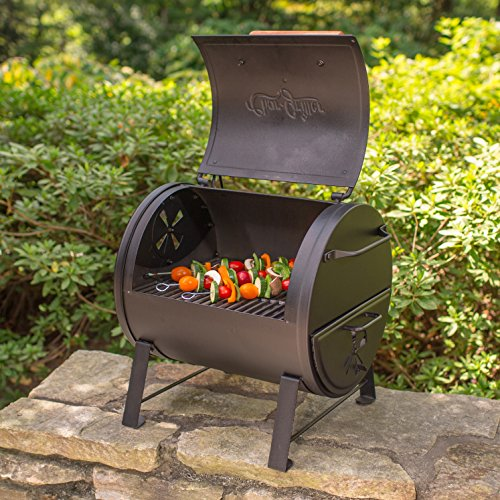 Char-Griller E22424 Table Top Charcoal Grill and Side Fire Box, Black