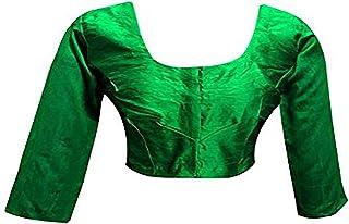 BEREIT, Bluse SEIDEN Best Match Sari Sari INDISCHE Stitch TOP Lining zu tragen Designer Long Crope Top Frauen Choli Indian Brokat Saree Bluse Party Wear Top Rock Frauen Futter