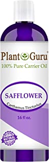 Safflower Oil 16 oz Cold Pressed 100% Pure Natural Carrier - Skin, Body And Face. Great For Moisturizing Creams, Lotions, Scalp Treatments, and Lip Balms