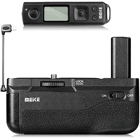 Meike MK-A6600 Pro Battery Grip Built-in 2.4GHZ Remote Controller Up to 100M to Control Shooting Vertical-Shooting Function for Sony A6600 Camera with Wireless Remote Control
