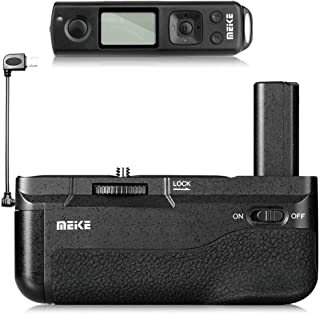 Meike A6300 Battery Grip, A6400 Battery Grip, A6000 Battery Grip, MK-A6300 Pro Built-in Battery Handle 2.4GHZ Remote Controller Up to 100M to Control Shooting for Sony A6000, A6300, A6400 Camera