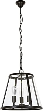 Beacon Lighting Westhampton 3 Light Pendant in Antique Black