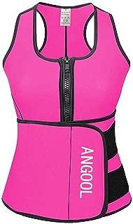 Waist Trainer Neoprene Sweat Sauna Vest for Women Weight Loss with Zipper and Waist Trimmer Belt