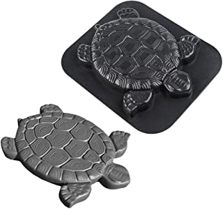 Turtle Shape Stepping Stone Mold,Garden Concrete Mold Walker Paving Mould Colorful Floor Tile for Lawns Parks Gardens Beaches Path