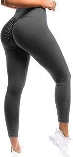 SEASUM Women Scrunch Butt Yoga Pants Leggings High Waist Waistband Workout Sport Fitness Gym Tights Push Up
