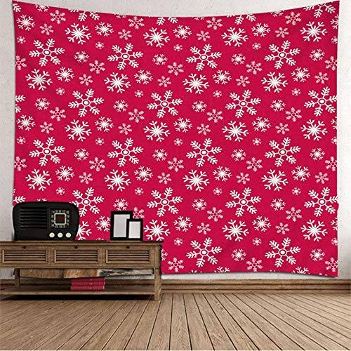 Dreamdge Christmas Theme Indie Tapestry for Bedroom Snowflake Christmas, Tapestry for Wall Mounted Christmas Decoration Size 150X150cm