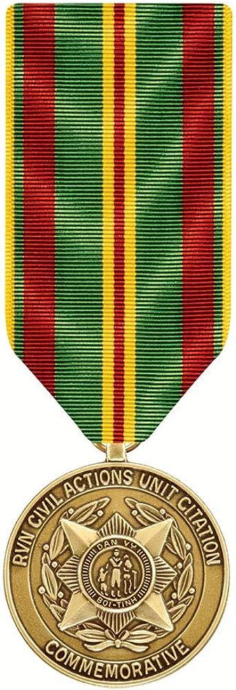 RVN Civil Action Unit Miniature Medal Commemorative Citation 4 years warranty Sales