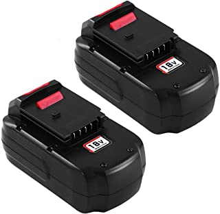2 Pack PC18B Ni-Mh Replace for Porter Cable 18V Battery 3.0Ah PCC489N PCMVC PCXMVC PC18BLEX for Porter Cable 18 Volt Cordless Tools