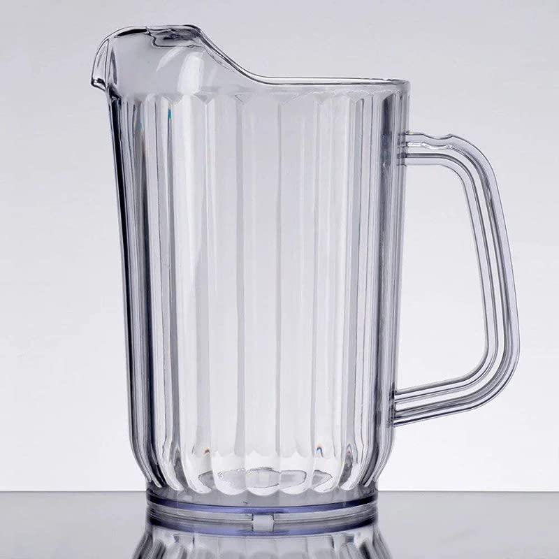 Choice 32 Oz Clear SAN Plastic Water Pitcher BPA Free
