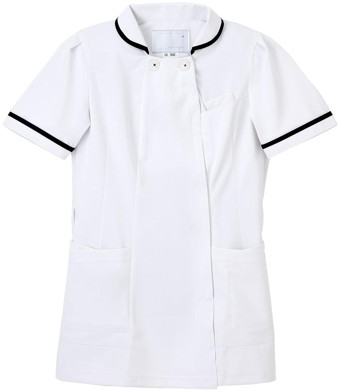 集計ポゴスティックジャンプ取り替える(ナガイレーベン) NAGAILEBEN 女子 上衣 半袖 メディカルウェア 白衣 CD-1642