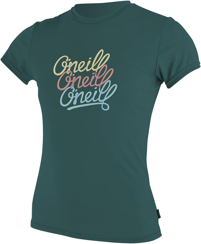 O'Neill Wetsuits UV Sun Predection Girls Skins Short Sleeve Tee Sun Shirt Rash Guard