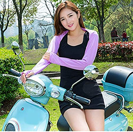 Rubywoo Cooling Shawl Arm Sleeves,UV Protection Sun Protector with Finger Hole for Women Golfing Riding Outdoor Activities