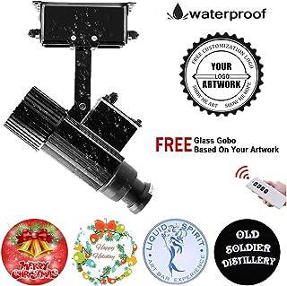 FDYD 35W LED del Logotipo del GOBO lámpara del proyector Ligero Incluyendo Insignia de Encargo de Cristal del GOBO para proyectar la Imagen,Negro,Remotecontrol