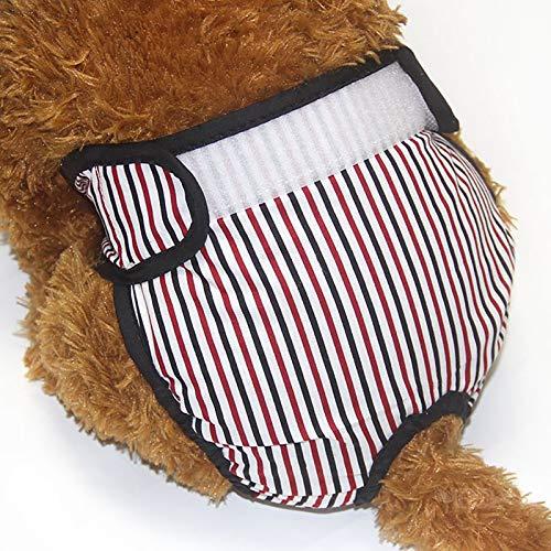 Pantalones fisiológicos Reutilizables para Perros, Mascotas, Perros, Pantalones de Seguridad Menstrual, pañales de higiene, Ropa Interior para prevenir el acoso (Color : Black, Size : Medium)