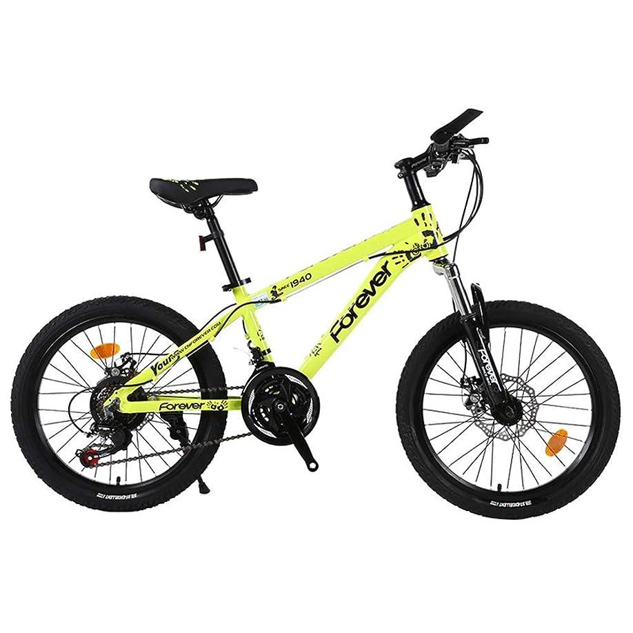 豊富ミュウミュウ投資軽量マウンテンバイク、20インチポータブルアルミニウムディスクブレーキ、男の子と女の子用の自転車シフトショックアブソーバー、取り付けが簡単、高速移動