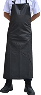 Surblue Waterproof Apron Chemical Resistant Work Safe Clothes (Black)