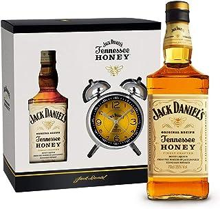 """Jack Daniel""""s Honey Set mit Wecker/Doppelglockenwecker Retro Design 1 x 0,7 Liter"""