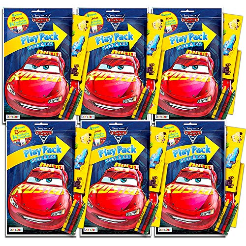 Disney Cars Ultimate Party Favors Packs -- Bundle Includes 6 Sets with Stickers, Coloring Books and Crayons (Party Supplies)