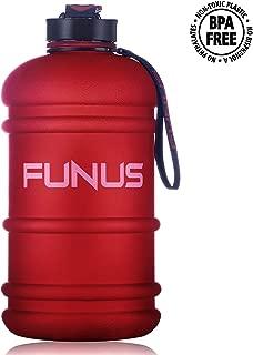 FUNUS Big Water Bottle 1.3L-2.2L Odorless Water Jug BPA Free Leak Proof Reusable Big Capacity for Men Women Fitness Gym Outdoor Climbing