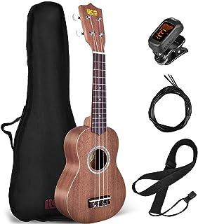 Beginner Ukulele, Soprano Ukulele Lico 21 inch Hawaiian Uke Mini Guitar Starter Kit Musical Instruments Educational Toys with Gig Bag, Strings, Tuner for Beginner, Kids, Starter, Soprano, Amateur