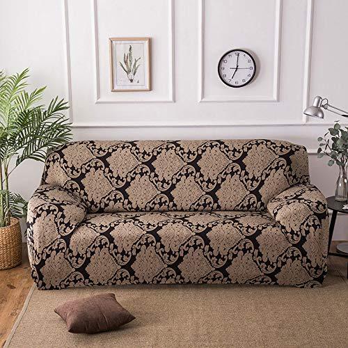 Funda de sofá elástica con Estampado Floral, Fundas elásticas Protectoras para Muebles, Fundas de sofá, Fundas de sofá para Sala de Estar A18, 4 plazas