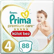Prima Premium Care Külot Bebek Bezi, 4 Beden, 88 Adet, Maxi Süper Fırsat Paketi