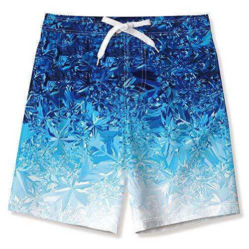 NEWISTAR Badehose für Kinder Junge mit Tasche 3D Lustig Endurance Boardshorts Kurze Hosen für Sommer Strand Karneval Fasching