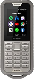 Nokia 800 Tough Feature Phone, Dual SIM, 512 MB RAM, 4G LTE, Sand