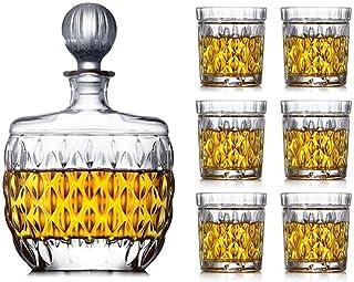 Decanter Whisky Carafe de vin Cristal Creative Cristal Verre Vin de vin Vin Bouteille de vin Décoration scellée Decanter V...