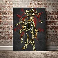 ナルト陸道千人モドポスターキャンバスウォールアートリビング用デコレーションプリントキッズチルドレンルームホームベッドルームデコレーションペインティング/ 60x80cm(フレームなし)