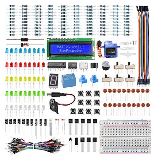 SunFounder Electronics Fun Kit with 1602 LCD Module,breadboard,LED,Resistor for Arduino R3 MEGA2560 Raspberry Pi