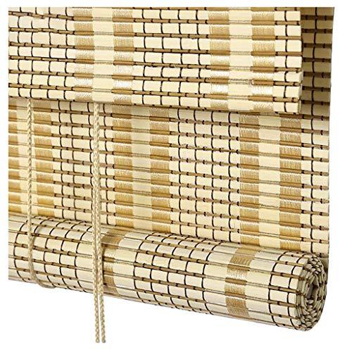 Persianas de bambú para ventanas romanas, persianas elevadoras, persianas enrollables con filtro de luz, protección UV / impermeable / transpirable, para terraza, pérgola, balcón, patio trasero