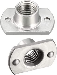 M6-1.00 Steel Tab Base Weld Nut with Projections,50 pk.