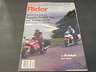 Rider Magazine Motorcycle July 1986, Kawasaki ZX1000R, Yamaha FJ1200